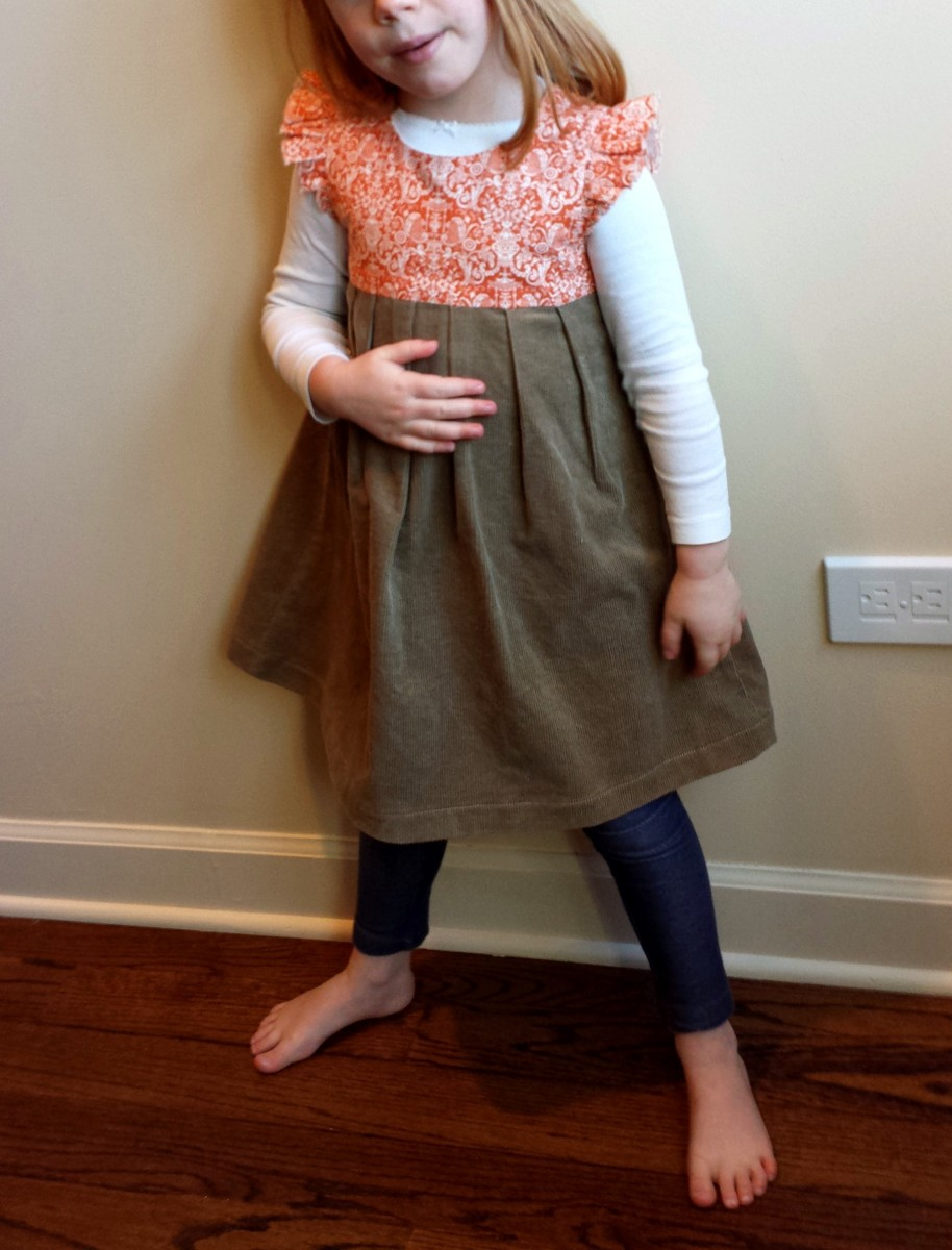 Made By Rae, Geranium Dress, Robert Kaufman
