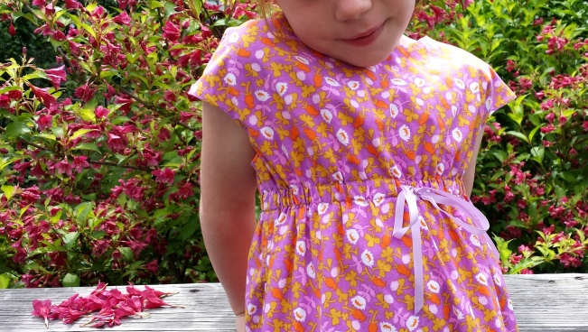Oliver + S Rollerskate Dress, Heather Ross, Briar Rose