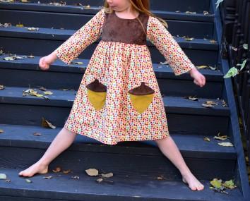 Geranium Dress, Long Sleeve, Made By Rae