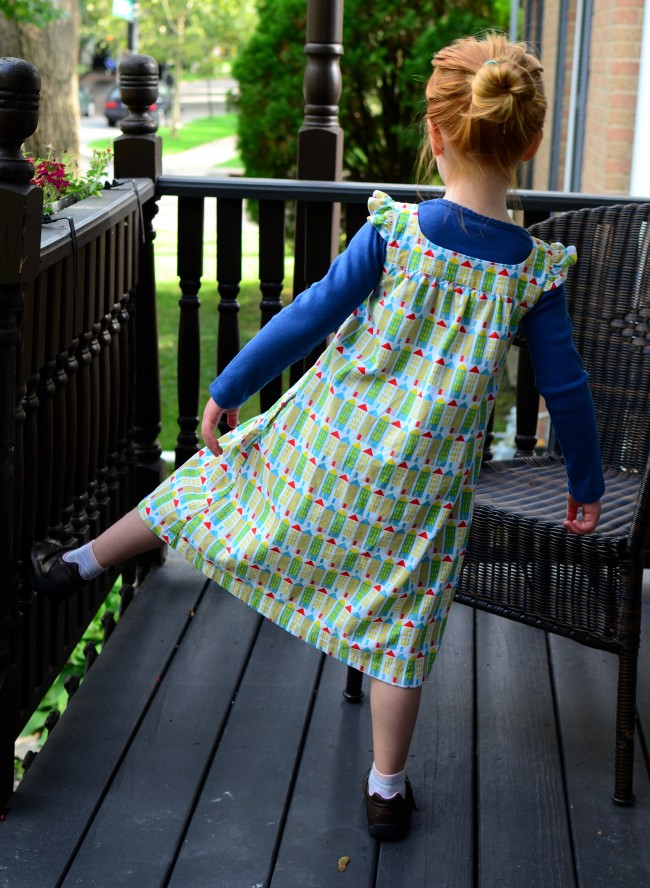 Happy Homemade Sew Chic Kids Pinafore r Small World Corduroy City Streets