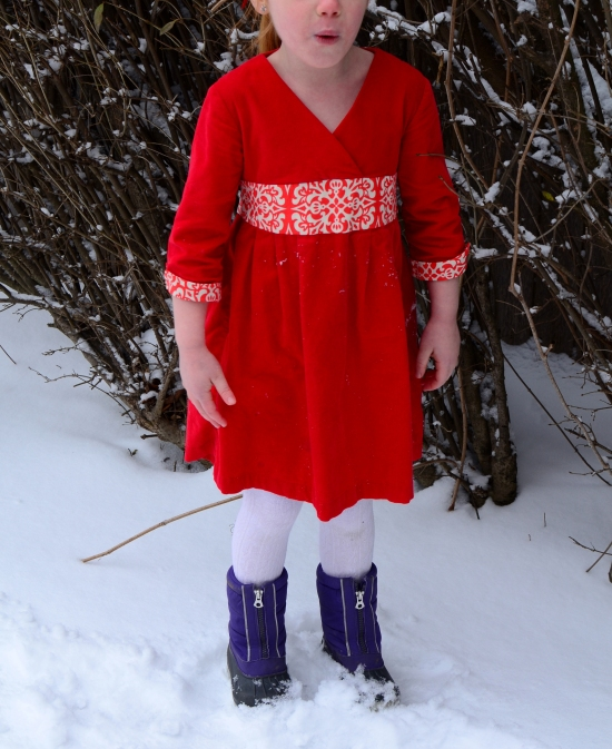 Library Dress, Oliver + S, invisible zipper