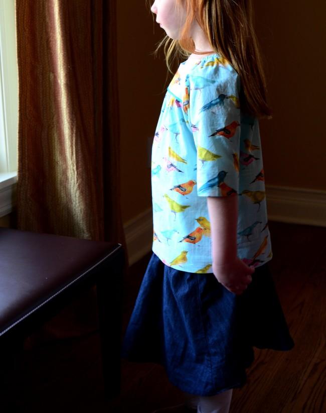 Oliver + S, Class Picnic Blouse, Swingset Skirt, Michael Miller Flutter