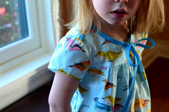 Happy Homemade Sew Chic Kids, Ribbon Tied Blouse c, Oliver + S Swingset Skirt