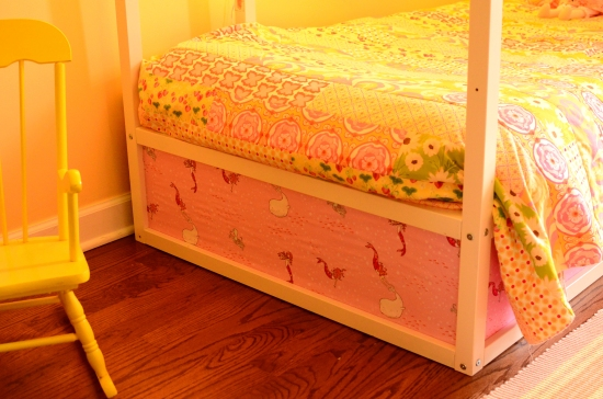 Ikea Kura Loft Bed Hack, Heather Ross Fabric, Sarah Jane Fabric