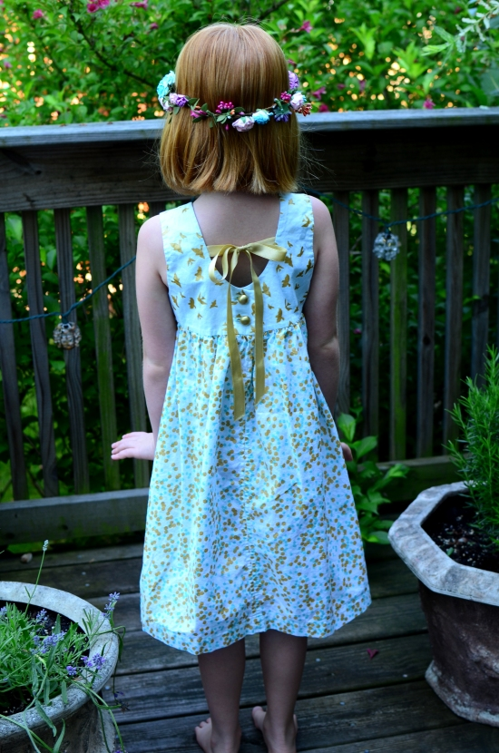 Geranium Dress, Made By Rae, Michael Miller, Brambleberry Ridge Flight, Brambleberry Ridge Shimmer Reflection Mint