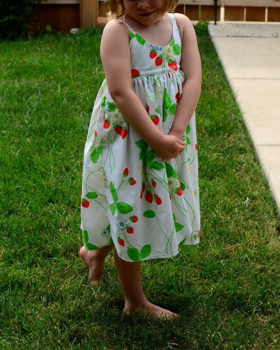 Hummingbird Dress, Rabbit Rabbit Creations, Vintage Sheet