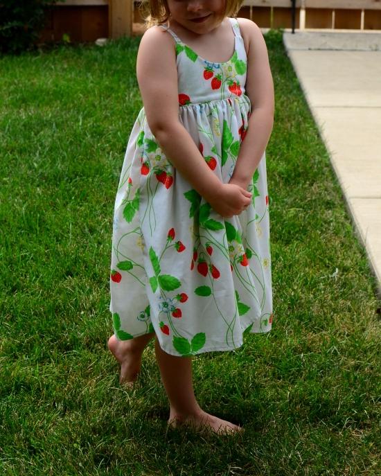 Hummingbird Dress, Rabbit Rabbit Creations, Vintage Sheet